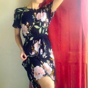 David Lawrence (10) floral midi dress